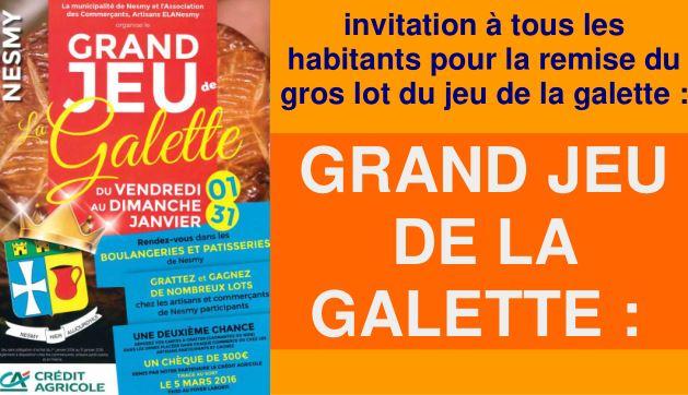 Archives : Grand Jeu de la Galette : Tirage au sort le 5 mars 2016 !