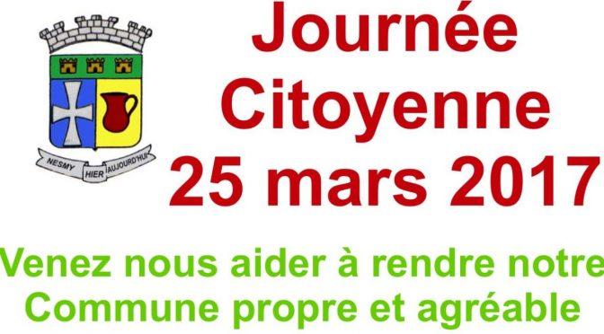 Archives : La Journée Citoyenne 25 mars 2017 et le Permis du Civisme du CME