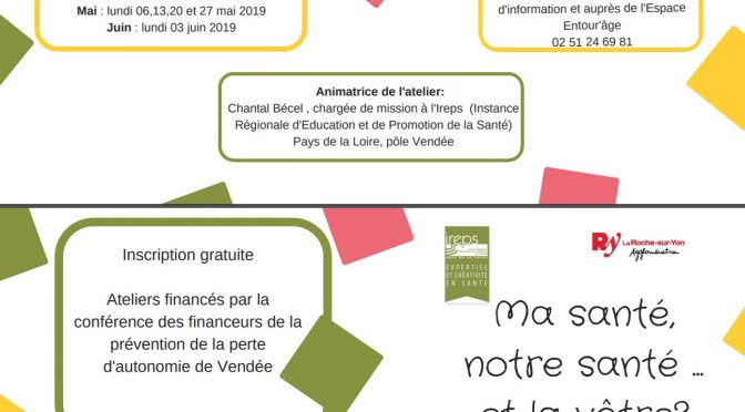 Archives : Ateliers Santé: Gratis, inscriptions avant le 8 avril 2019