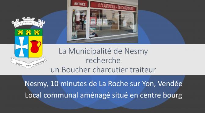 Nesmy Recherche un Boucher-charcutier-traiteur