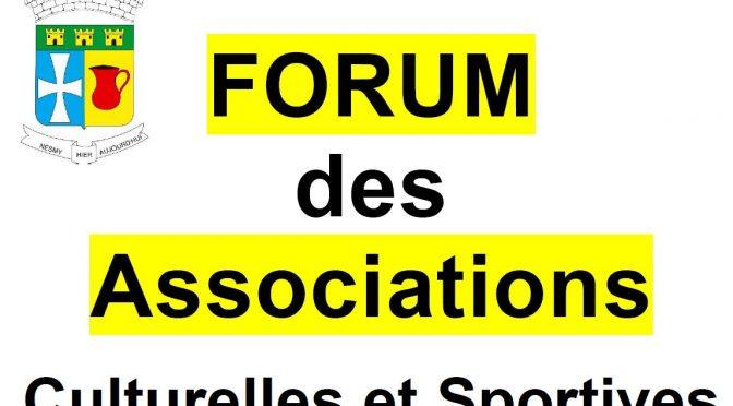 Forum des Associations le 4 sept. 2021