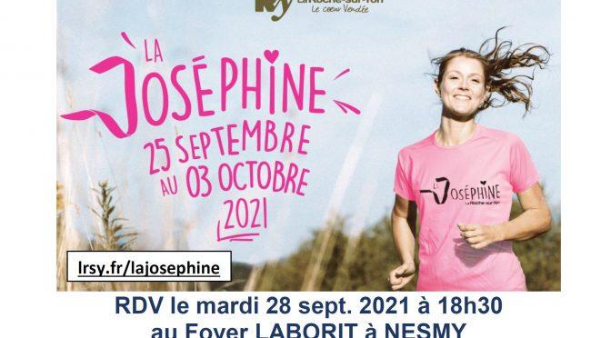 La Joséphine à Nesmy 25 sept-3 oct 2021